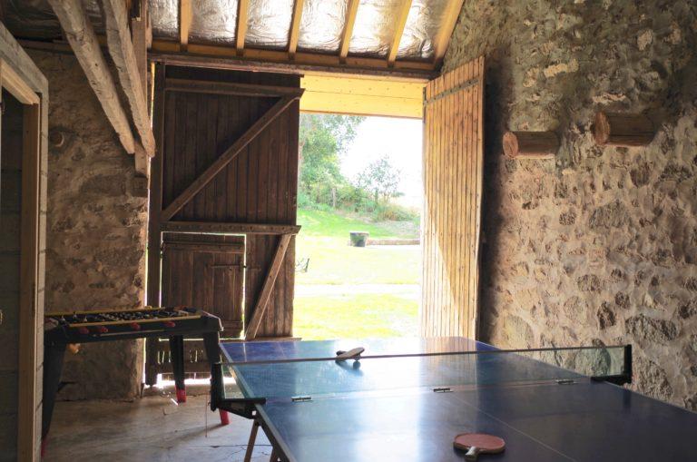 gites du moulin de poil ping pong